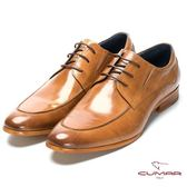 CUMAR 成熟穩重 經典綁帶紳士鞋-棕色