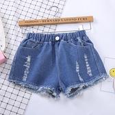 短褲 2021新款女童牛仔短褲韓版時尚潮夏季破洞褲中童大童小孩褲子兒童