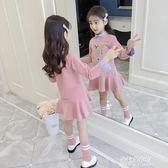 女童洋裝 女童秋款洋裝新款中大童春秋韓版時尚洋氣童裝純棉長袖裙子  朵拉朵衣櫥