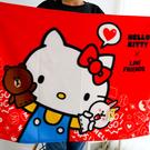 正版 Kitty x LINE 聯名刷毛毯 刷毛保暖毯 毯被 保暖毯 毛毯 嬰兒毯 懶人毯 冷氣毯 毯子 熊大 兔兔