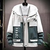 男士休閒外套春秋2020新款韓版潮流工裝夾克寬松百搭潮牌冬季上衣 好樂匯