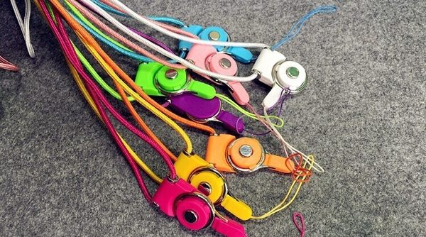 【CHENY】繽紛指環扣手機掛繩 相機掛繩