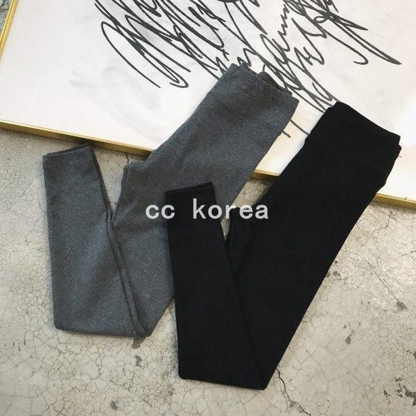 現貨灰 保暖彈性修身內搭褲 CC KOREA ~ Q19997