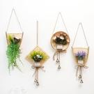風鈴 竹編筐模擬花植物墻壁裝飾掛件女生臥...