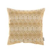HOLA 貝絲繡花抱枕45x45cm 菱紋黃