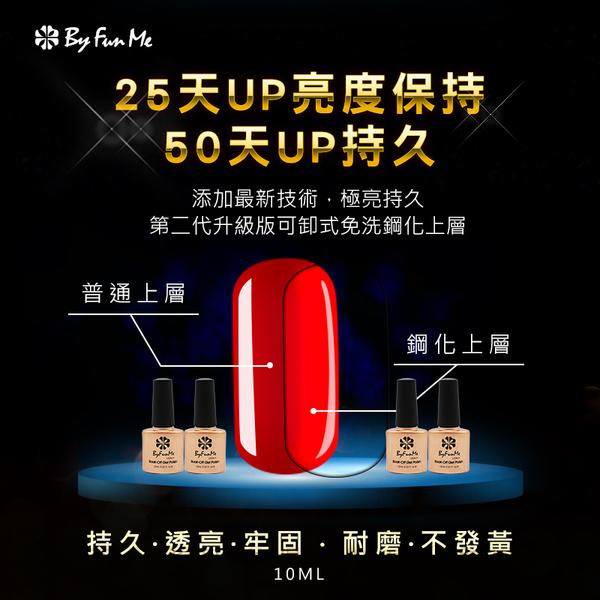 ByFunMe金瓶第二代可卸式鋼化上層(免清)密封膠 上層凝膠 表層封層 10ml NailsMall