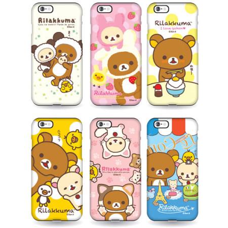 Rilakkuma 懶懶熊 拉拉熊 雙層防摔 手機殼│iPhone 5S SE 6 6S 7 8 Plus X XS MAX XR 11 Pro│z6938