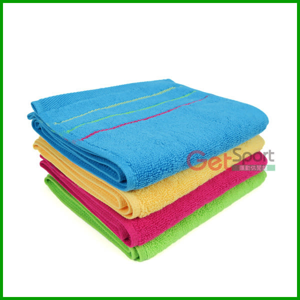 長版運動毛巾(三線款)(擦汗巾/運動長巾/加長型/跑步必備/台灣製造)