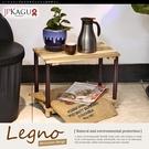 JP Kagu 鐵木原木置物架二層架DIY層架-49x30x37.5cm(BK4312)