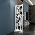 現代簡約客廳家具屏風鏤空座屏隔斷置物架花...