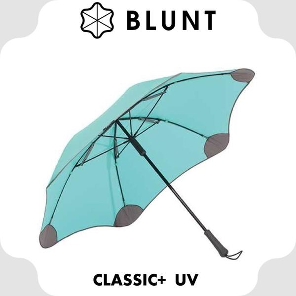 【BLUNT 紐西蘭 CLASSIC+UV 抗強風 99%抗UV直傘《蒂芬妮綠》】BLT-C05/美人傘/自動傘/雨傘★滿額送