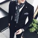 細窄長條小絲巾男領巾