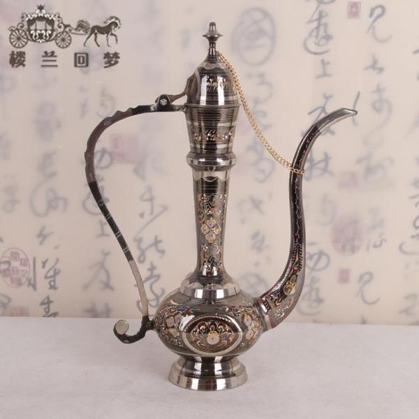 巴基斯坦銅器 大把壺 新疆特色民族工藝品 銅器手工藝品 禮品1入