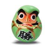 【金石工坊】必勝綠色達摩不倒翁(高6CM)風水開運擺飾