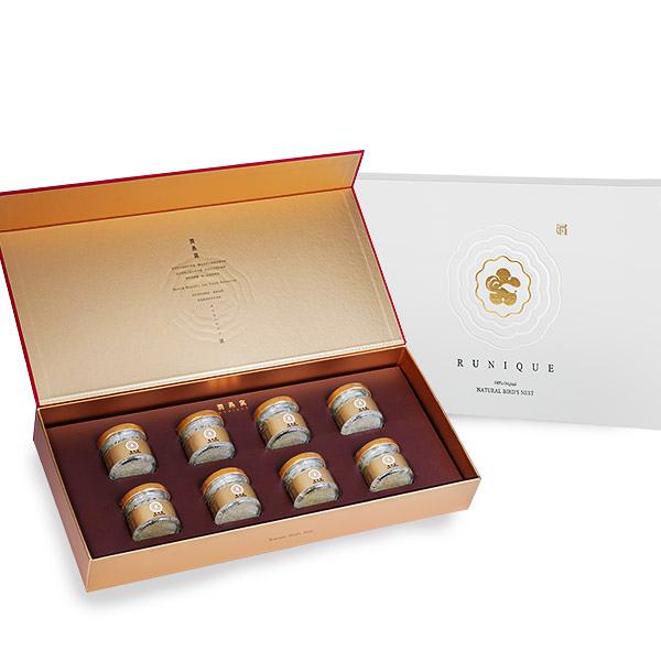 【潤燕窩】 24k極濃一品金燕禮盒(40mlx8瓶) 現燉燕窩 口碑推薦 輕巧瓶
