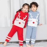兒童秋冬睡衣日本軟綿綿 2019冬新款男童家居服 寶寶睡衣套裝5073【小艾新品】