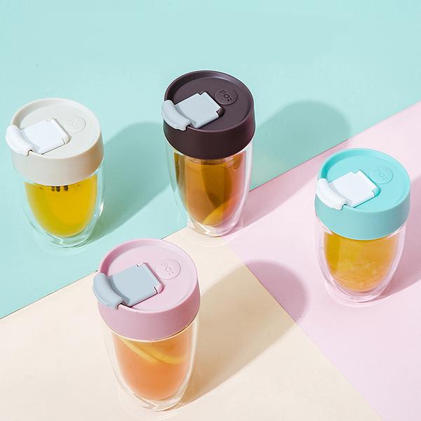 【PO:Selected】丹麥奇法雙層玻璃杯325ml (共4色)