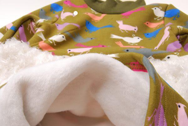 *╮小衣衫S13╭*彩色小鳥毛毛裙厚洋裝1011039