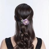 韓國布藝花朵扭扭夾一字夾橫夾八字夾髮飾髮夾馬尾夾盤髮夾頭飾-享家生活館