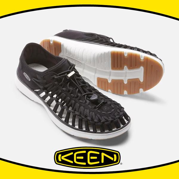 【KEEN 美國 男 編繩涼鞋《 黑/白》】1017050/編織涼鞋/涼鞋/休閒涼鞋/水陸兩用鞋