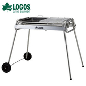 丹大戶外【LOGOS】日本 GPLUS 不鏽鋼BBQ拖輪烤爐(附烤盤) XXL號 81060840