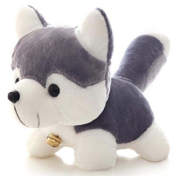 哈士奇狗公仔毛絨玩具趴趴狗娃娃女生迷你仿真玩偶可愛狗年吉祥物「摩登大道」