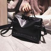 chic港風復古手提包女潮時尚大包包韓版百搭側背斜挎包