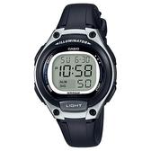 CASIO 10年電力經典輕巧便利好戴運動電子錶-銀X黑(LW-203-1A)