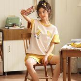 【預購款】居家服夏季新款睡衣套裝女短袖短褲甜美兩件套可外穿912#【時尚潮流部落】