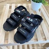 《7+1童鞋》FILA 3-S418V-001 運動涼鞋 4347 黑色