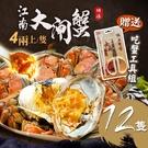 送蟹工具組[屏聚美食] 肥美鮮活江南大閘蟹12隻組(4兩上/隻)