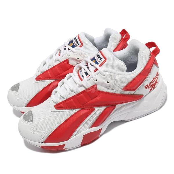 【海外限定】Reebok 休閒鞋 INTV 96 白 紅 大Logo 復古 男鞋 女鞋 Interval【ACS】 FV5476