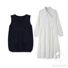 兩件套大碼女裝顯瘦連身裙子【Kacey ...