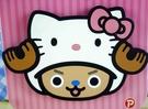 【震撼精品百貨】ONE PIECE&HELLO KITTY_聯名海賊王喬巴&凱蒂貓系列~杯墊
