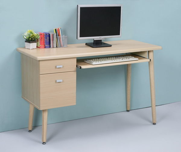 *集樂雅*【DE1248】環保低甲醛附抽屜鍵盤架書桌 電腦桌