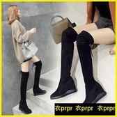 過膝靴-膝上靴過膝長靴長筒靴內增高顯瘦高筒彈力靴 衣普菈