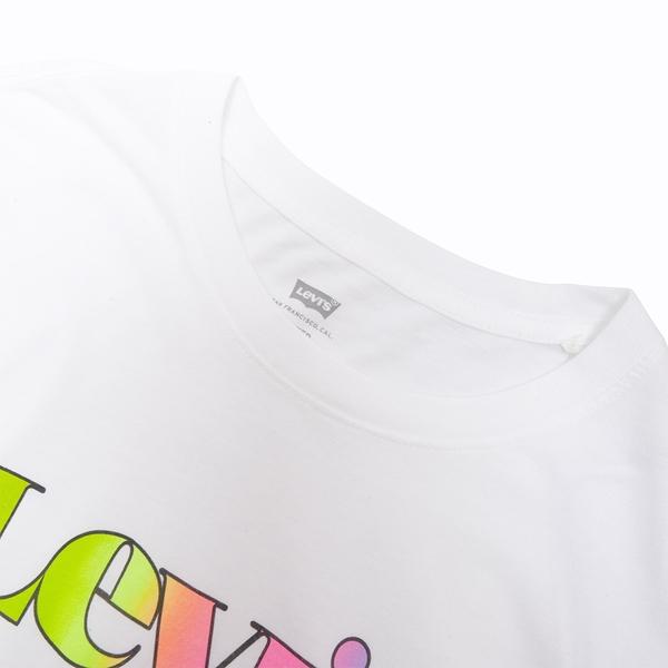 Levis 男款 短袖T恤 / 復古漸層Logo / 寬鬆休閒版型 / 白