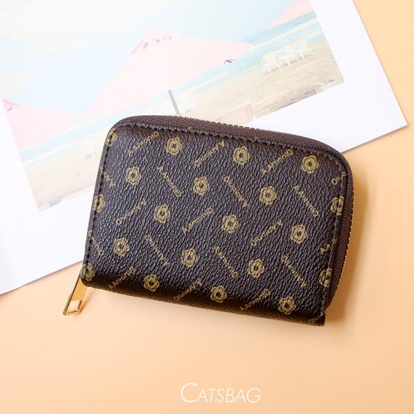 Catsbag|朵朵花立體多層短夾|信用卡包|風琴卡包