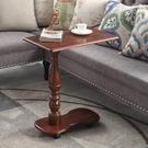 全實木美式行動電腦桌床邊桌歐式多功能懶人桌沙發小邊幾WY