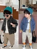 兒童外套 男童牛仔外套秋裝新品寶寶時尚韓版牛仔衣兒童洋氣上衣 快速出貨
