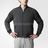 adidas 外套 ATHLETICS 黑 男款 長袖 棒球外套 運動夾克 雙面反穿 【PUMP306】 BQ5586