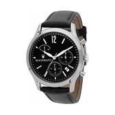 【Maserati 瑪莎拉蒂】TRADIZIONE三眼設計款精品真皮腕錶/R8871625002/台灣總代理公司貨享一年保固