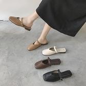 半拖鞋 包頭半拖鞋女外穿2020夏季新款百搭低跟穆勒鞋網紅方頭涼拖鞋子潮 風尚3C