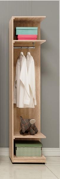 【森可家居】葛瑞絲1.5尺轉角開放衣櫃 10ZX043-8 衣櫥 北歐風 系統式設計 可隨意配置 MIT