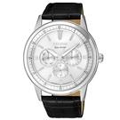 CITIZEN 星辰  新上市 星期與日期顯示光動能手錶BU2071-01A 白X黑