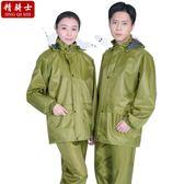 降價優惠兩天-雨衣套裝單人騎行分體雨衣男女厚帆布摩托車雨衣電動車雨衣雨褲套裝