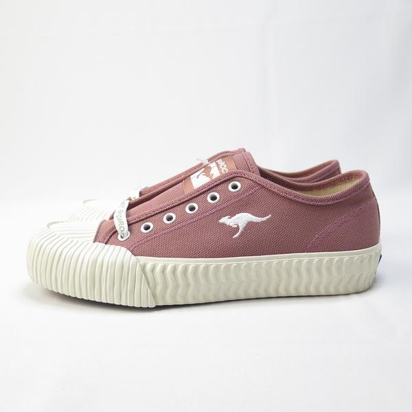 KangaROOS 袋鼠 CRUST 低筒帆布鞋 綁帶 餅乾鞋 正品 KW91272 乾燥粉 女款【iSport愛運動】