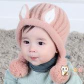 寶寶帽子秋冬季新生兒胎帽0-3-6個月嬰兒毛線帽男女孩公主可愛帽