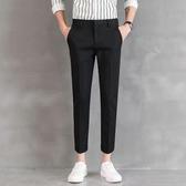 西裝褲修身西褲男士黑色夏季直筒西裝褲工作商務薄款休閒職業褲正裝褲子 晶彩生活