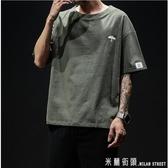 夏季中國風刺繡亞麻t恤男士短袖棉麻半袖大碼胖子寬鬆休閒上衣潮
